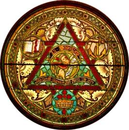 St. Mark's stained glass Trinity window