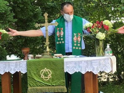 Outdoor service - with Father John Balicki